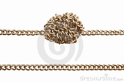 Straight and twisted chain