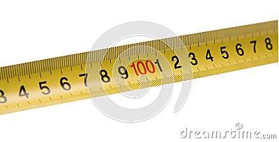 Straight yellow ruler