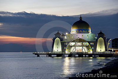 Straits Mosque at Dusk