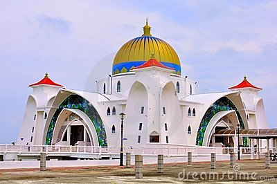 Straits Mosque, Melaka Editorial Stock Image