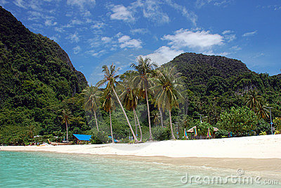 Strand op Phi Ko Phi, Thailand