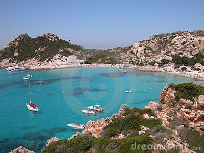 Strand in Sardinige (Italië)