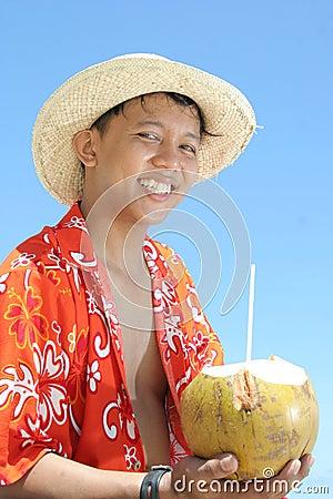 Strand till den tropiska välkomnandet