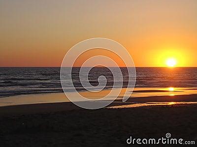Strandsolnedgång