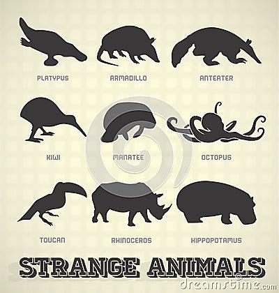 Free Strange Animal Silhouettes Stock Photo - 30127310