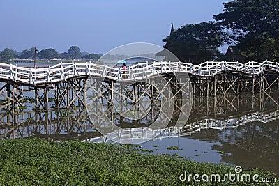 Strange Bridge - Monywa - Myanmar (Burma) Editorial Photo