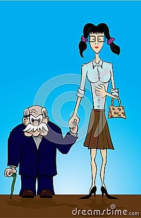 Free Strange Couple Stock Photo - 4006860