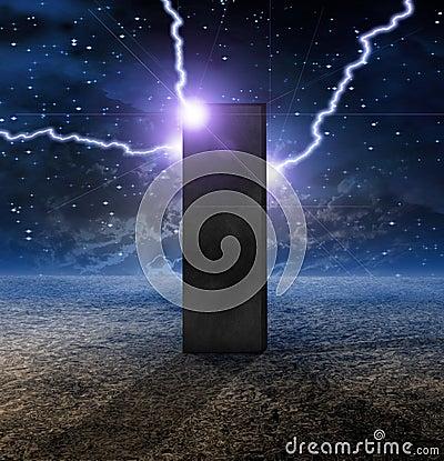 Strange Monolith on Planet