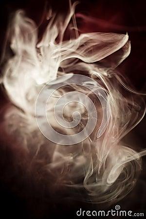 Strangely shaped puff of smoke