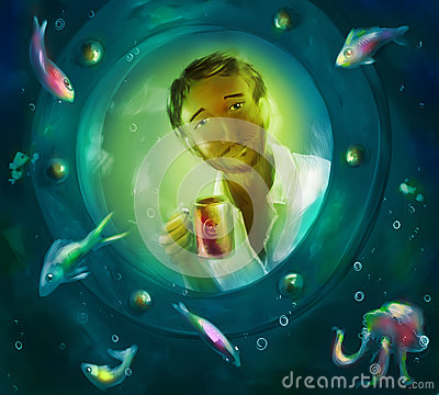 Free Stranger In The World Of Fish Royalty Free Stock Photos - 77523548