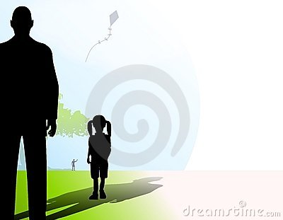 Stranger With Little Girl In Park Royalty Free Stock Images - Image: 4290129
