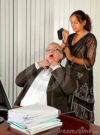 Strangling the boss