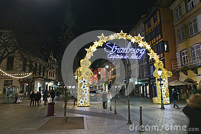 Strasbourg, Capital of Christmas Editorial Stock Image