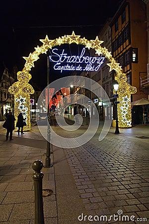 Strasbourg, Capital of Christmas Editorial Stock Image