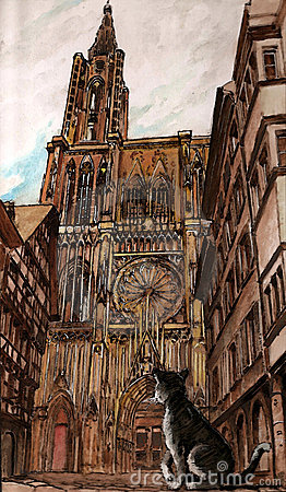 The Strasbourg cathedral
