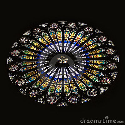 Strasbourg Cathedral Stained Glass Rose Window