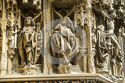 Strasbourg - The gothic cathedral, sculptures