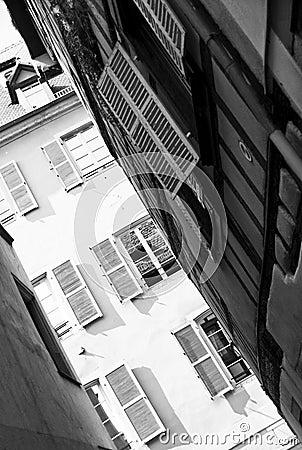 Strasbourg narrow street