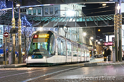 Strasbourg Night Tram