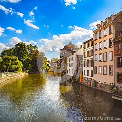 Free Strasbourg, Water Canal In Petite France Area, Unesco Site. Alsa Royalty Free Stock Image - 78770916