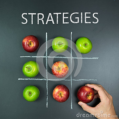 Free Strategies Concept With Tic Tac Toe Game Stock Image - 74407291