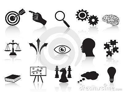 Strategy concepts icons set