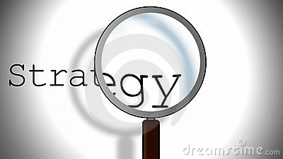 Strategy and magnifying glass