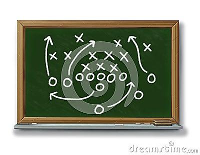 Strategy planning game plan chalk board football b