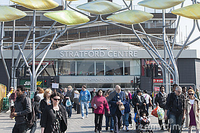 Stratford Centre in London Editorial Photography