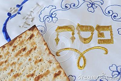 Strati e coperchio ebrei tradizionali del Matzo