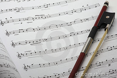 Strato di musica del violino