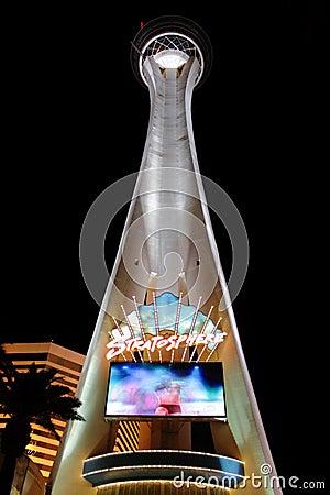 Stratosphere Las Vegas Tower Editorial Stock Image