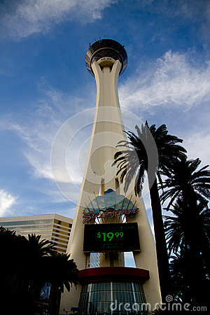 The Stratosphere Tower in Las Vegas Editorial Photography