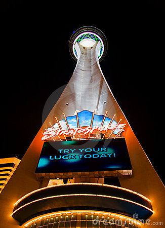 Stratosphere in Vegas Editorial Stock Image