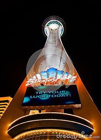 Stratosphere in Vegas Editorial Stock Image