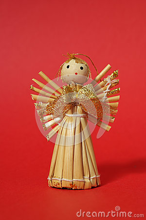 Free Straw Angel Background Stock Images - 34848254
