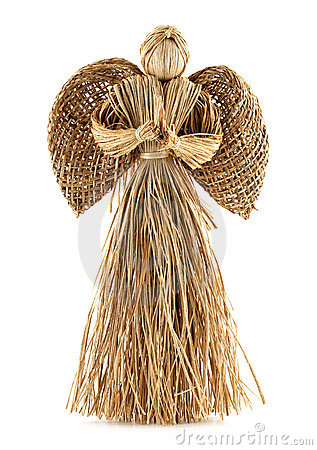 Free Straw Angel Decoration Stock Photography - 18690842