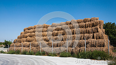 Straw bale stack