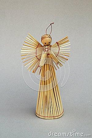 Free Straw Christmas Angel Stock Photos - 16745953