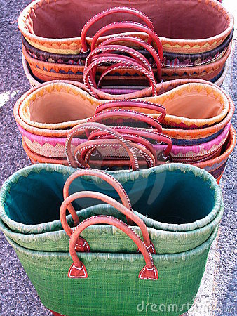 Straw colored bags