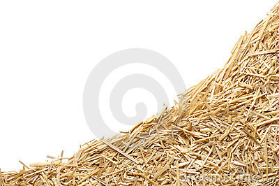 Straw with copy space