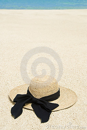 Straw Hat on a Tropical Beach