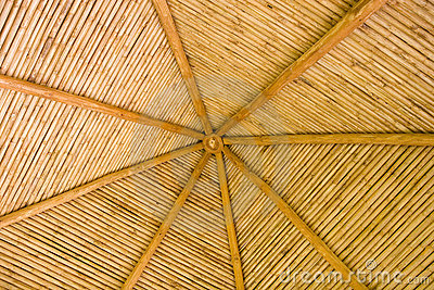 Straw Hut Bamboo Roof