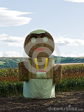 Straw man staying on the field
