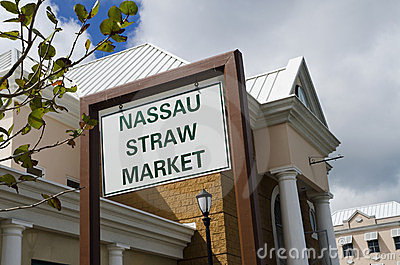 Straw market sign