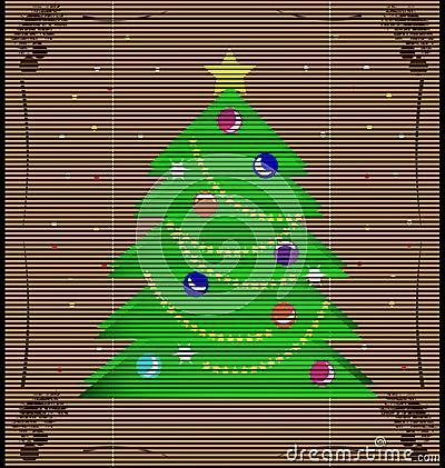 straw mat Christmas tree