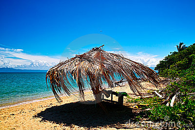 Straw shed of Low island