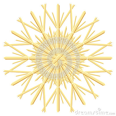 Free Straw Star Christmas Tree Ornament Stock Image - 62069301