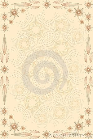 Straw Stars Background