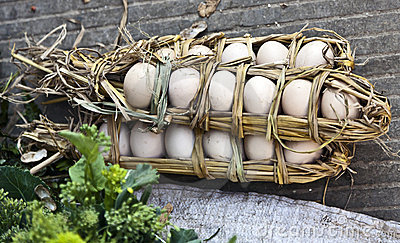 Straw Wrapped Eggs